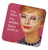 Don't Push It Cork Coaster