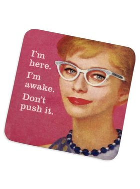 Don't Push It Cork Coaster
