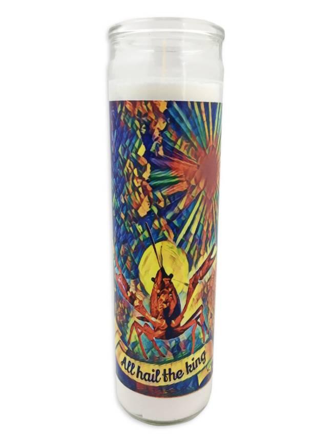 Hail Crawfish Saint Candle