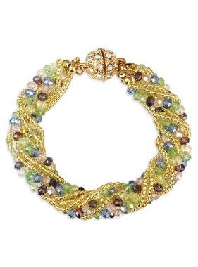 Pastel Multi Strand Bracelet