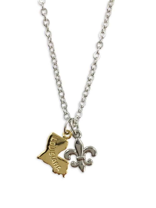 Louisiana Fleur de Lis Necklace