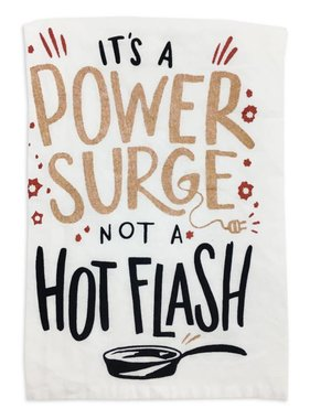 Primitives by Kathy Power Surge Tea Towel