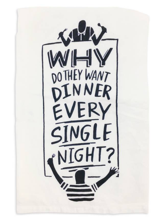Primitives by Kathy Every Night Tea Towel