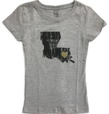 Louisiana Love Tween Tee, Black & Gold