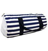 Stripe Navy Duffel Bag