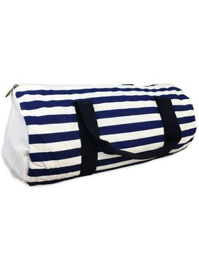 Stripe Navy Duffel Bag