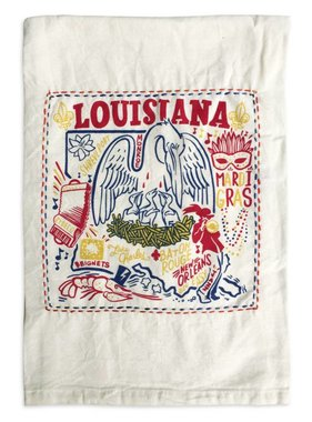 Primitives by Kathy Embroidered Louisiana Tea Towel