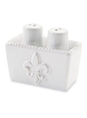 Mud Pie Fleur de Lis Salt & Pepper Set