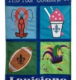 Four Seasons of Louisiana Garden Flag