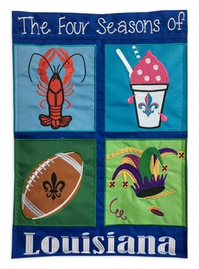 Four Seasons of Louisiana Garden Flag