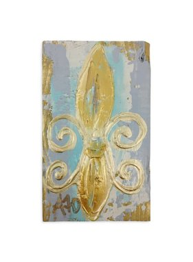 Covered With Paint Fleur de Lis Wall Art, Small