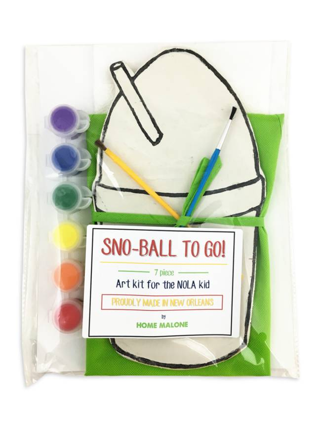 Home Malone Snoball To Go! Art Kit For The NOLA Kid