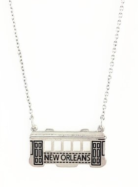 New Orleans Streetcar Necklace in Silver