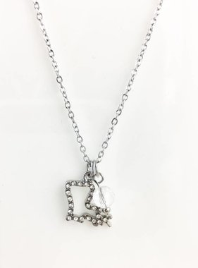 Louisiana State Necklace, Silver