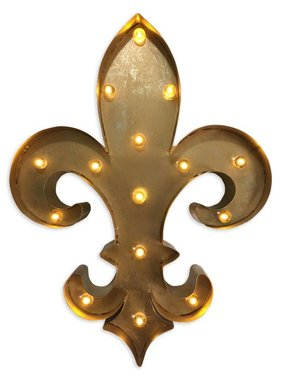 Fleur de Lis Lighted Sign