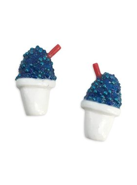 Blue Snoball Earrings