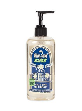 Blue Q Wash Away Your Sins Liquid Soap