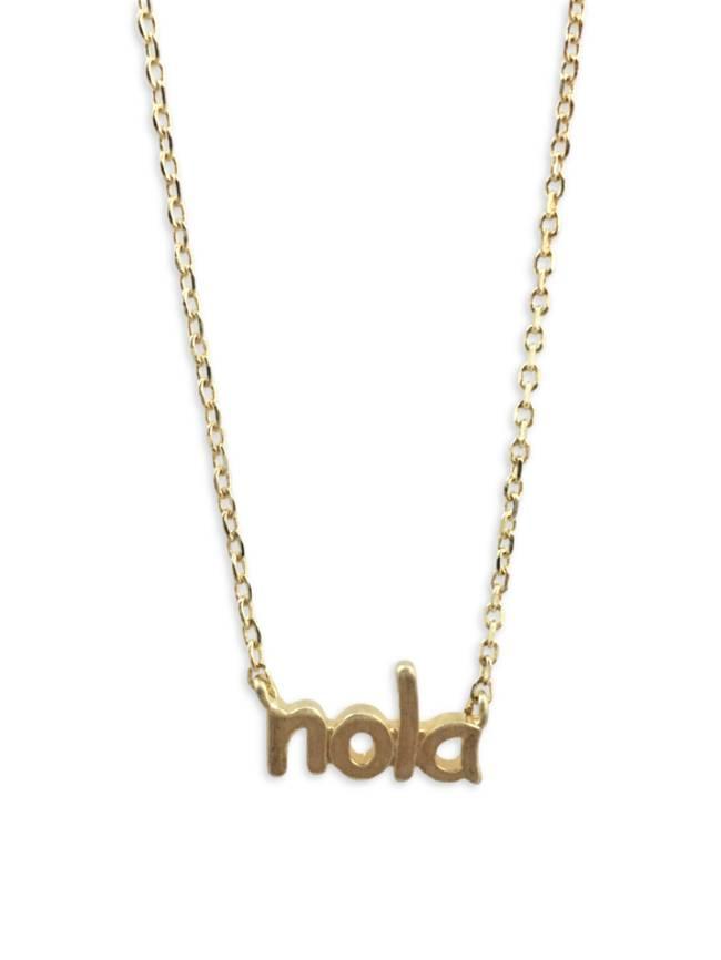 NOLA Letter Necklace