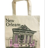 New Orleans Shotgun House Tote, Pink