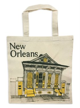 New Orleans Shotgun House Tote, Yellow