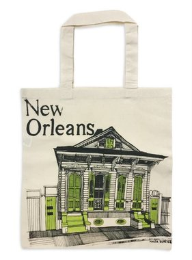 New Orleans Shotgun House Tote, Lime Green