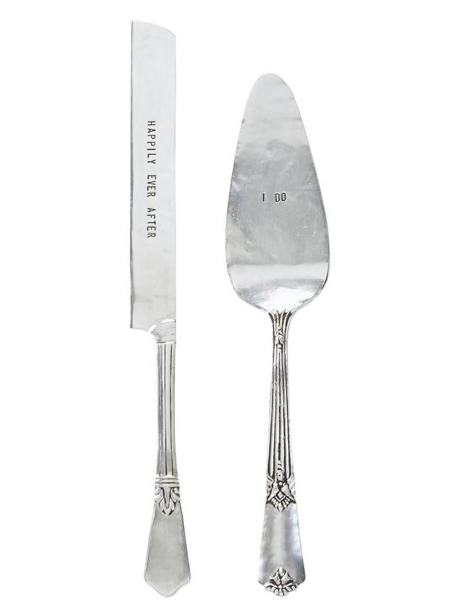 Mud Pie Wedding Cake Knife & Server Set