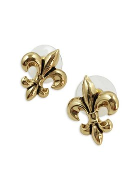 Classic Fleur de Lis Earrings, Gold