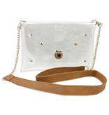 Clear Purse with Chain, Natural