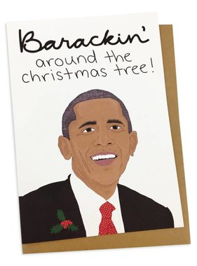 Greeting Card, Barackin Christmas