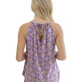 Purple & Gold Bow Neck Tank