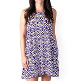 Purple & Gold Splash Swing Dress