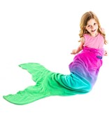 Pink/Aqua Ombre Blankie Tail