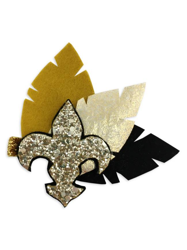 Black & Gold Bon Temps Rouler Hair Clip