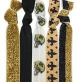 Black & Gold 5 Pack Hair Tie/Bracelet