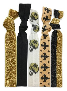 Black & Gold 5 Pack Hair Tie/Bracelet