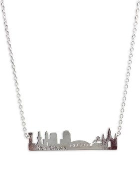 NOLA Skyline Necklace in Silver