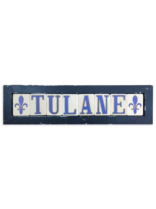 Tulane Framed Tile Art