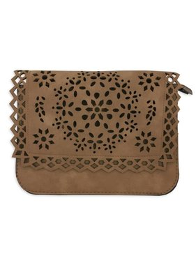 Cutout Foldover Crossbody Bag