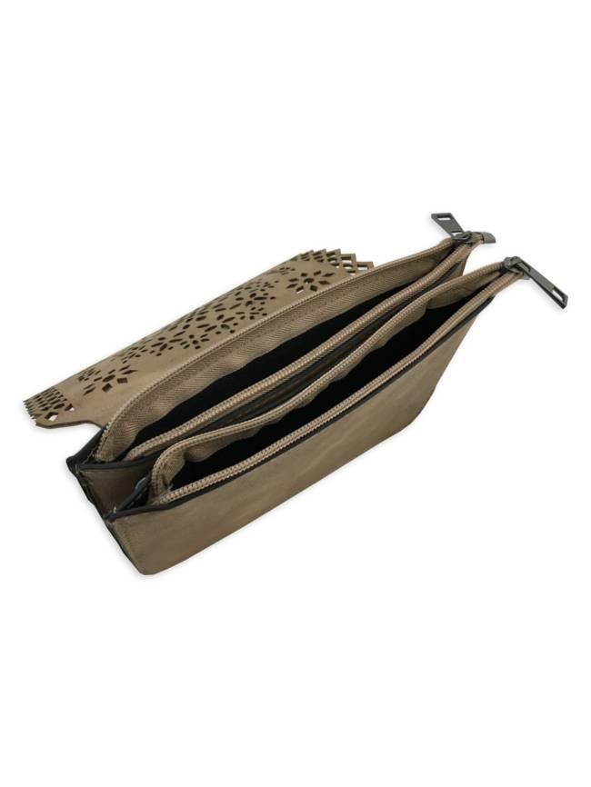 Cutout Foldover Crossbody Bag