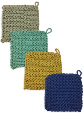 Square Knitted Pot Holder