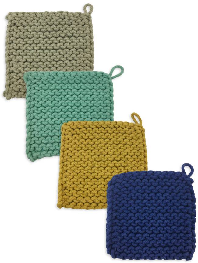 Square Knitted Pot Holder