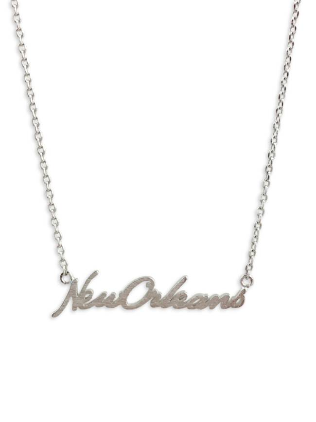 New Orleans Necklace, Silver