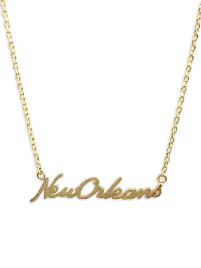 New Orleans Necklace, Gold