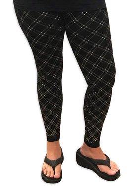 Black & Gold Plaid Leggings