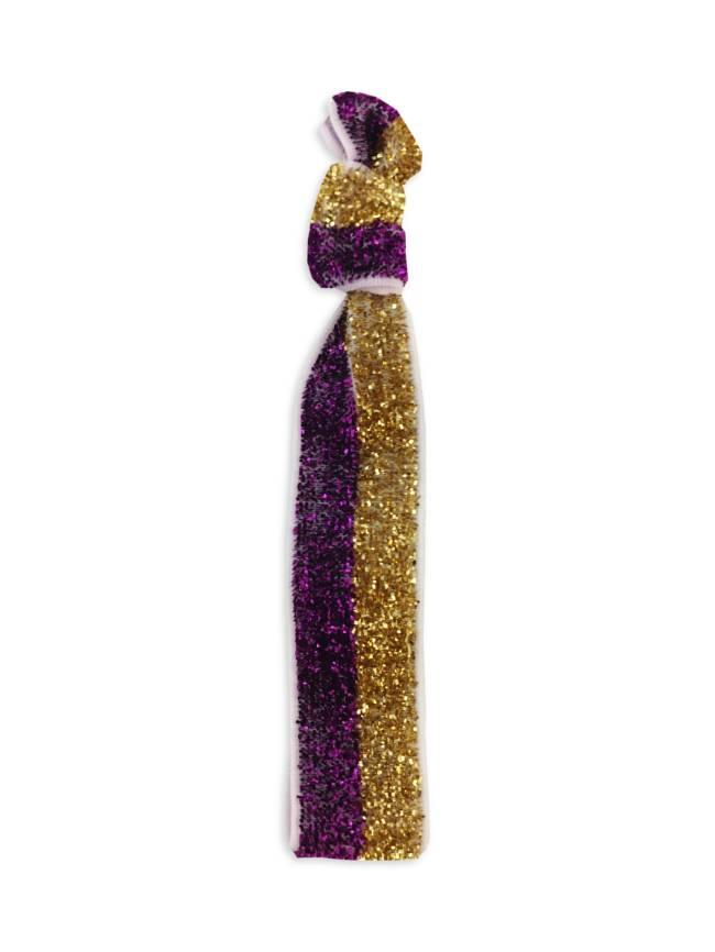 Purple & Gold Glitter Hair Tie/Bracelet