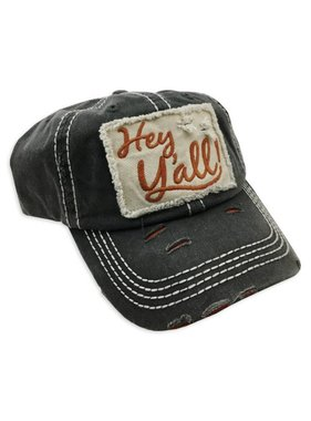 Hey Y'all Baseball Cap, Black