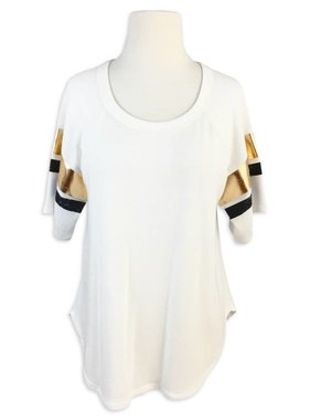 Gameday Gold Foil Stripe Sleeve Tee