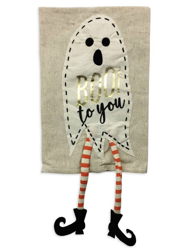 Mud Pie Boo To You Ghostly Halloween Towel
