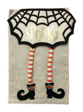 Mud Pie Halloween Spooky Witch Towel