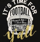 Time For Football Y'all Cold Shoulder Tee